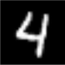 sample MNIST digit vector